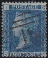 Great Britain  .  Yvert .  27  .  Pl. 8      .  O   .    Cancelled .   /   .   Gebruikt - 1840-1901 (Victoria)