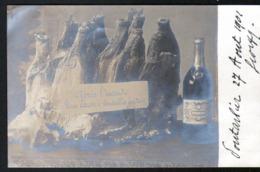 25, Pontarlier, Incendie De L'usine Pernod Et Fils, Apres L'incendie, Une Caisse De Bouteilles Fondues - Pontarlier