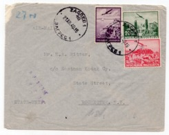 1940 YUGOSLAVIA, CROATIA, ZAGREB TO ROCHESTER, USA, AIR MAIL - Storia Postale