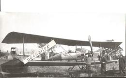 PHOTO AVION BREGUET TYPE 1911  A MOTEUR GNOM  A DOUAI  13X7CM   PHOTO COLLé SUR SUPPORT - Aviation