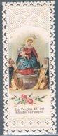 Santini 19 -La Vergine SS Del Rosario Di Pompei, Cromolitografia Con Cornice Ornata A Punzone, Fine 800. - Santini