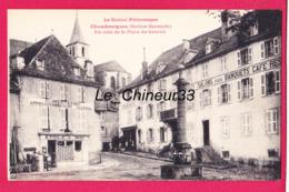 15 - CHAUDESAIGUES----Un Coin De La Place Du Gravier---alimentation--animé - Sonstige Gemeinden