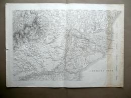 Carta Romania Bulgaria Valacchia Moldavia Bessarabia Galadsch Metà '800 - Altre Collezioni