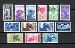 Turquía  1949-50 .-  Y&T  Nº   1093-1096/1099-1100/1101-1102/1104-1105/1106-1108 - Usados