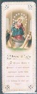Santini 20 -La Vergine SS Del Rosario Di Pompei, Cromolitografia Con Cornice Ornata A Punzone, Fine 800. - Santini