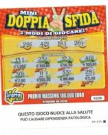 GRATTA E VINCI   - MINI DOPPIA SFIDA   € 2.00  ( CON QUADRATTINO) - USATO  (SERIE STELLA 3006 NUOCE ALLA SALUTE) - Biglietti Della Lotteria