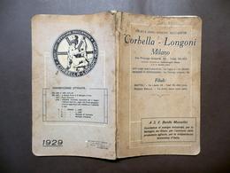 Catalogo Società Anonima Officine Meccaniche Corbella Longoni Milano 1929 - Libri, Riviste, Fumetti