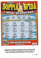 GRATTA E VINCI   - NUOVO DOPPIA SFIDA   € 5.00  ( CON QUADRATTINO) - USATO  (SERIE STELLA 3004 NUOCE ALLA SALUTE) - Biglietti Della Lotteria