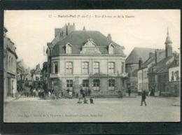 CPA - SAINT POL - Rue D'Arras Et De La Mairie, Animé - Saint Pol Sur Ternoise