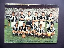 Fotocartolina A Colori Juventus Formazione Giocatori Campionato Calcio 1959-60 - Photos