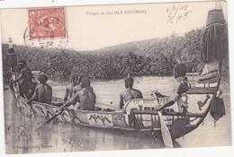41923 -  Océanie -  Pirogue De Chef - île Salomon - Frans-Polynesië