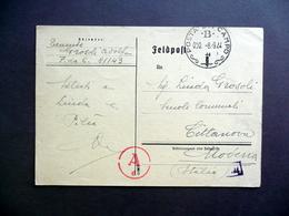 Cartolina Postale Posta Da Campo B Feldpost 8/9/1944 RSI WW2 Grosoli Modena - Andere