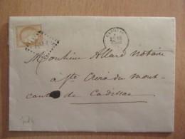 Timbre Cérès 15c Bistre-brun YT N°59 Sur Lettre - GC 688 Cadillac - 1874 - 1871-1875 Ceres