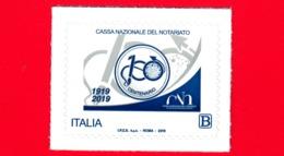 Nuovo - MNH - ITALIA - 2019 - 100 Anni Della Cassa Nazionale Del Notariato – Logo - B - 1946-.. République