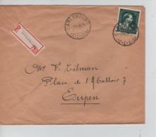 CBPN94/ TP 724 T Léopold III Col Ouvert S/L.recommandée C.Carlsbourg 9/10/1946 > Eupen - 1946 -10%