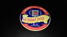 """Etiquette De Fromage """" Le Saint Yves """" - Cheese"""