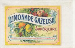AN 662 / ETIQUETTE    LIMONADE GAZEUSE  SUPERIEURE - Labels