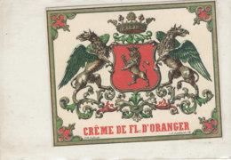 AN 650 / ETIQUETTE   CREME DE FIL D'ORANGER - Autres