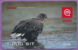 Telecarte °_ Slovénie-oiseau-1.000 SIT-Belorepec Haliaeetus- R/V 4339 - Slowenien