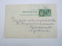 1910, Ganzsachenausschnitt ! Auf Ganzsache , Verschickt Nach Deutschland - Norwegen