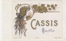 AN 607 / ETIQUETTE  CASSIS  SURFIN N° 438 - Labels