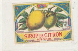 AN 595 / ETIQUETTE   SIROP DE CITRON PUR SUCRE  N°554 - Etiketten