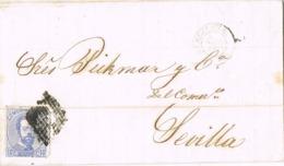 34627. Carta Entera BARCELONA  1873. Amadeo, Rombo De Rombos - 1872-73 Reino: Amadeo I