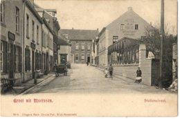 Meerssen  Stationstraat (o.a.mensen , Hotel De La Poste) - Nederland