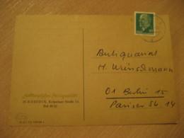 ROSTOCK 1966 Antiquariat Antique Dealer Antiquaire Corner Card DDR GERMANY Archeology Archeologie - Archäologie