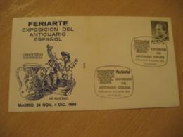 MADRID 1988 Feriarte Anticuario Pottery Antique Dealer Antiquaire Cancel Cover SPAIN Archeology Archeologie - Archäologie