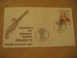MADRID 1987 Feriarte Anticuario Gun Antique Dealer Antiquaire Cancel Cover SPAIN Archeology Archeologie - Archäologie