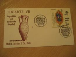 MADRID 1983 Feriarte Anticuario Phoenician Amphora Antique Dealer Antiquaire Cancel Cover SPAIN Archeology Archeologie - Archäologie