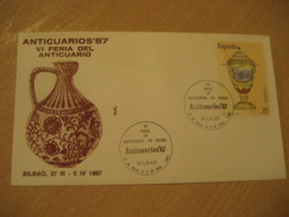 BILBAO 1987 Feria Anticuario Anticuarios 87 Antique Dealer Antiquaire Cancel Cover SPAIN Archeology Archeologie - Archäologie