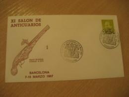 BARCELONA 1987 Salon De Anticuarios Pany De Roda Gun Antique Dealer Antiquaire Cancel Cover SPAIN Archeology Archeologie - Archäologie