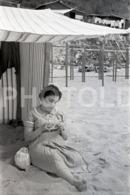 1957 PRAIA BEACH PLAGE PLAYA PORTUGAL AMATEUR 35mm ORIGINAL NEGATIVE Not PHOTO No FOTO - Photographica