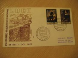 LUGO 1977 Congreso Arqueologico Nal. Cancel Cover SPAIN Archeology Archeologie - Archäologie