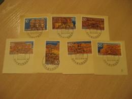 BERLIN 1970 Sudan Grabunden Humboldt University Set 7 On Piece Stamp Cancel DDR GERMANY Archeology Archeologie - Archäologie