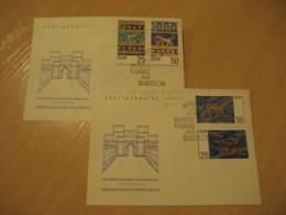 BERLIN 1966 Yvert 926/9 Babylon Asia Minor Ischtartor Lyon FDC Cancel 2 Cover DDR GERMANY Archeology Archeologie - Archäologie