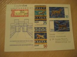 JOSSNITZ 1966 Yvert 926/9 Babylon Asia Minor Ischtartor Lyon Cancel Registered Cover DDR GERMANY Archeology Archeologie - Archäologie