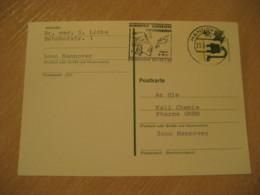 HANNOVER 1976 Echnaton Nofretete Tutanchamun Egypt Cancel Card GERMANY Archeology Archeologie - Archäologie