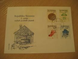 LJUBLJANA 1993 Rednih Postnih Znamk FDC Cancel Cover SLOVENIA Archeology Archeologie - Archäologie