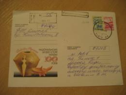 UKRAINE 1999 Registered Cancel Postal Stationery Cover Archeology Archeologie - Archäologie