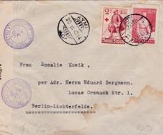 FINLANDE :  Lettre Avec Cachet Et Censure Finlandais Et Allemands Pour Berlin En 1942 - Finland