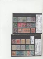 TIMBRES DE L ALBANIE  EN L ETAT (*)/*/ °/ 1876 -75-94 Nr VOIR SUR PAPIER AVEC TIMBRES  2 PLAQUETTES   COTE  68.50  € - Neufs