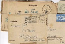 4 Feldpostbrief Avec Différents Cachets - Covers & Documents