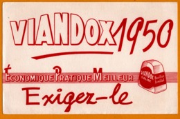 2 BUVARD - Viandox 1950 - Bouillon Familial - Edit. MORAX Paris - Alimentare