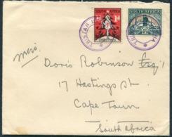 Tristan Da Cunha / South Africa 1937 Christmas Charity Seal Cover - Cape Town - Tristan Da Cunha