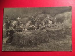 CPA Soldat 1914-1918  Au Stand De Tir ( Situé à Longwy D'après Le Redacteur )  Avec Fusil Chassepot Et Clairon - Guerre 1914-18
