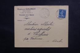 FRANCE - Enveloppe Commerciale De Nogent / Seine Pour Thieffrain En 1923, Affranchissement Type Semeuse - L 47083 - Storia Postale