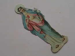 Sainte .......... Heilige......... Madonna ......... ( Zie Foto Voor Detail ) H. +/- 8,5 Cm.  ! - Découpis
